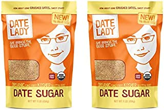 product image for Organic Date Sugar, 1 lb | 100% Whole Food | Vegan, Paleo, Gluten-free & Kosher | 100% Ground Dates | Sugar Substitute and Alternative Sweetener for Baking | Contains Fiber from the Date (2 Bags)