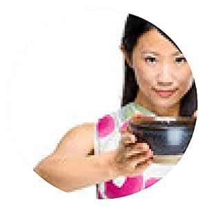 alfombrilla de ratón Asiática alcanza una taza de té - ronda - 20cm