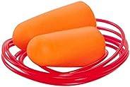 Allen Company 2345 Foam Corded Ear Plugs, 3-Pair, Orange/Red Cord