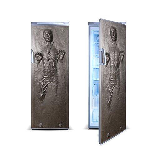 FridgeWrap: Han Solo in Carbonite Vinyl Sticker for Refrigerator (Fridge Decal)