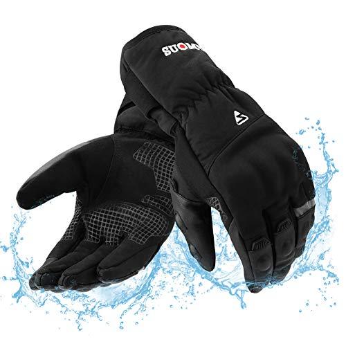 RunSnail Winter Motorhandschoenen Waterdichte Mens Womens Touchscreen, Winddicht Warm Lange Manchet Motorhandschoenen…