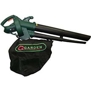 41Zl31%2BGfvL. SS300  - Q Garden QGBV2500 Leaf Blower Vacuum - Green/Black