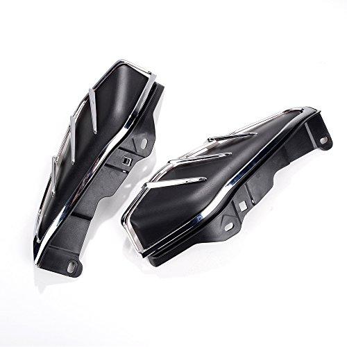 Direct Fit 2009-2015 Harley-Davidson Touring Matt Black Mid-Frame Air Deflector & Chrome Trim w/ 3M Adhesive Tape