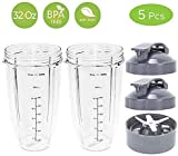 Replacement NutriBullet 32 Oz Cup with Flip Top