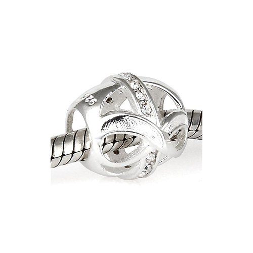 Everbling Infinity Love With Clear Cz April Birthstone 925
