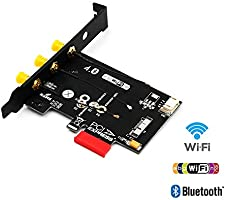 WiFi + Bluetooth 4 0 Card to PCI-E x1 Adapter for PC