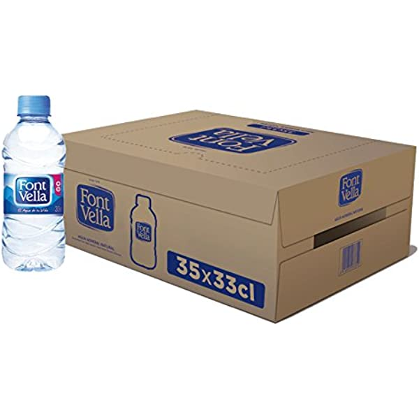 Font Vella - Agua Mineral Natural - Caja 35 x 33Cl: Amazon.es: Alimentación y bebidas