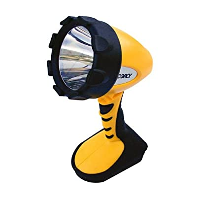 Dorcy 41-4296 Swivel Head LED Spotlight with Locking Trigger, 300-Lumens, Yellow Finish
