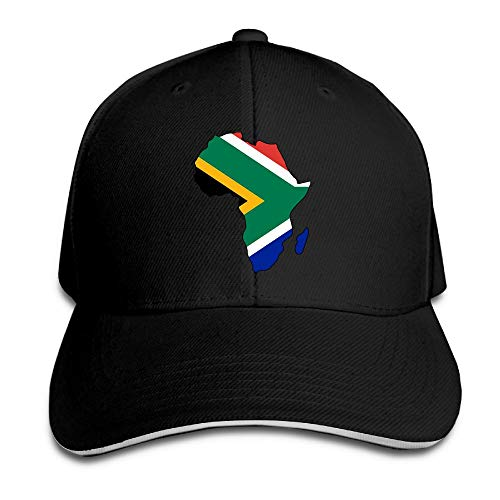 Youbah-01 Women's/Men's South Africa Flag in Africa Map Adult Adjustable Snapback Hats Baseball Cap by Youbah-01