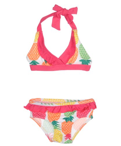 "Pink Platinum Baby Girls' ""Pineapple Paradise"" 2-Piece Bikini - white, 18 months"