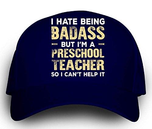 Teacher Trucker Hat (Badass Preschool Teacher Funny Gift -)