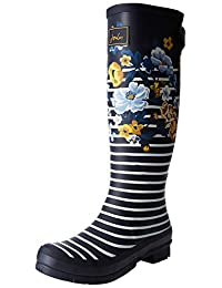 Joules Women's Welly Printed with Adjustable Back Gusset Rain Boots