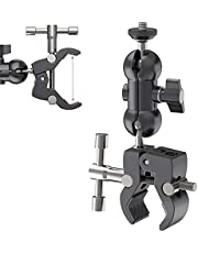 """Super Clamp with Magic Arm Mount, Clip Mount for Camera Monitor Mount/LED Light/Extension Rod Photography Accessories 1/4"""" Screw 3/8"""" Hole Video Shooting Gear Adjustable Ball Head Bracket - R093"""