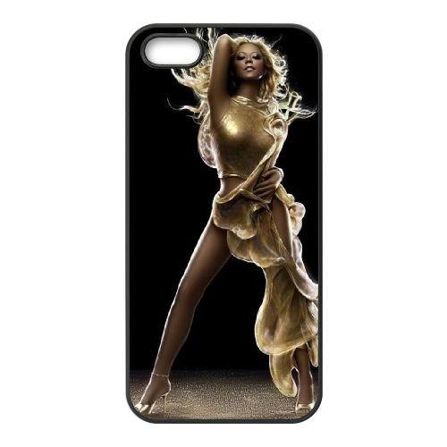 Mariah Carey 03 coque iPhone 5 5S cellulaire cas coque de téléphone cas téléphone cellulaire noir couvercle EOKXLLNCD25777