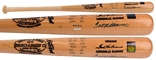 - Ted Williams Boston Red Sox Autographed Blonde Louisville Slugger Bat with Engraved Stats - PSA/DNA Certified