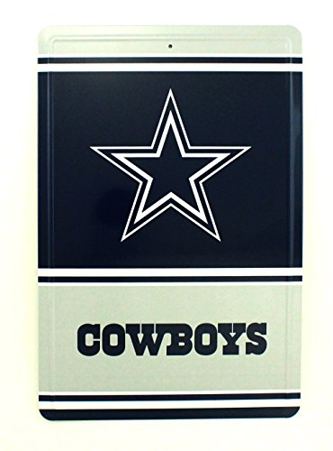Pro Specialties Group NFL Dallas Cowboys Team Logo Tin Sign, 8 x 12-inches, - Cowboys Dallas Wholesale