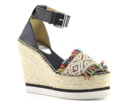 Colors Of California Jute Wedge Ankle Lace In Leath HC.JWEDGE012-S17 MUL
