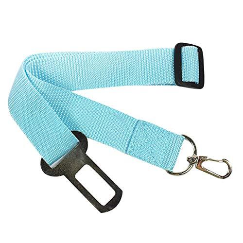 5 Color Adjustable Pet Dog Safety Puppy Car Safe Belts Restrict Rope Seat Belt Nylon,Sky Blue,As Show,United States