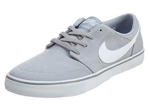 f95a286d3f6de Galleon - Nike SB Portmore II Solar Canvas Wolf Grey White Black Men s  Skate Shoes