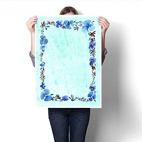 - Anshesix Modern Canvas Painting Wall Art Hand-Painted Floral Frame Wall Stickers 32