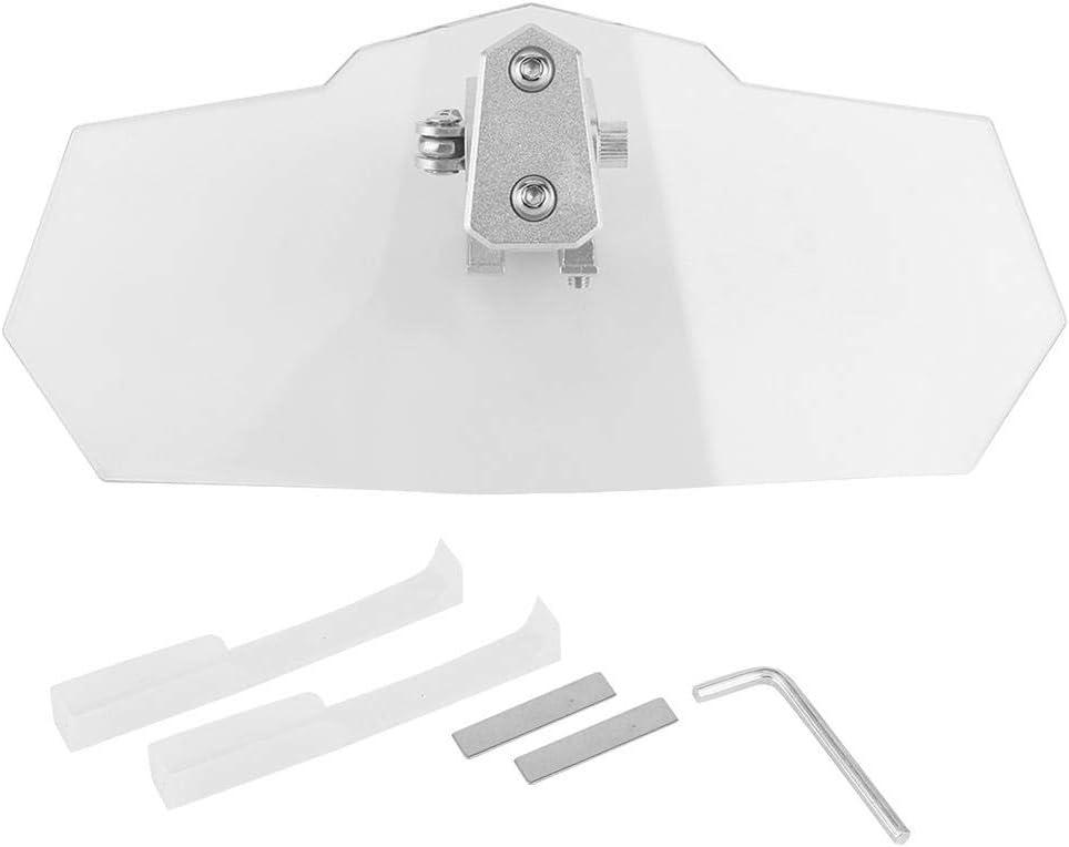 Parabrisas de la Motocicleta Kit de extensi/ón del Parabrisas Clip Ajustable Universal de elevaci/ón en el aler/ón Deflector de Viento de la Motocicleta