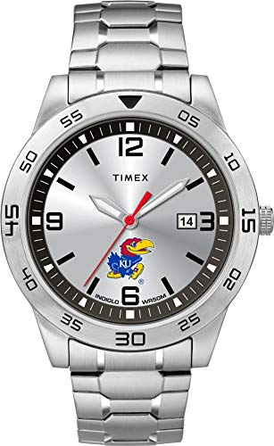 Kansas Jayhawks Watch - Timex Men's Kansas Jayhawks KU Watch Citation Steel Watch