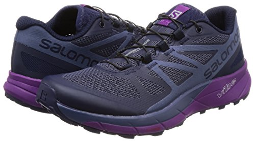 Salomon Sense Ride Trail Running Shoe - Women's Evening Blue/Crown Blue/Grape Juice 6 by Salomon (Image #5)