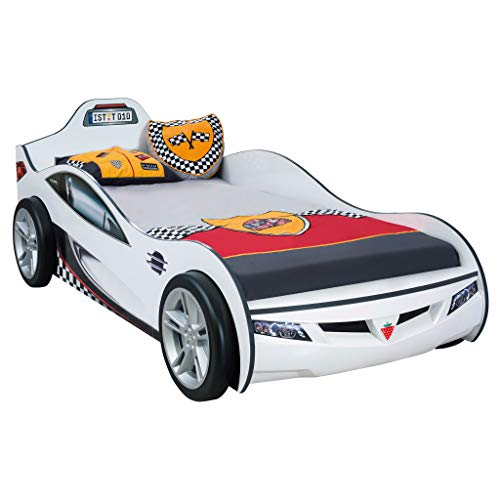 (Cilek Kids Room 20.03.1321.00 Cup White Twin Race Car)