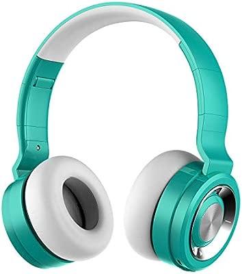 Auriculares Bluetooth 5.0 Inalámbricos con Micrófono, Funwaretech Auriculare con Cable Plegable Wireless Headphones con HiFi Sonido Estéreo y Bajos ...