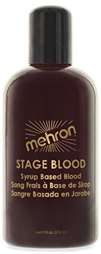 Mehron Makeup Stage Blood, BRIGHT ARTERIAL for Special Effects| Halloween| Movies- (Best Gory Halloween Movies)