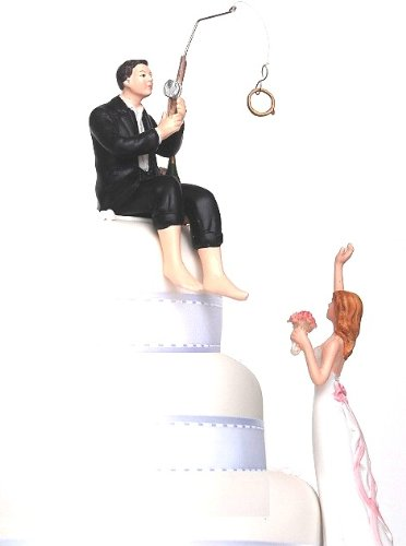 Hooked on Love - Humorous Cake Topper for Wedding Celebrations ()