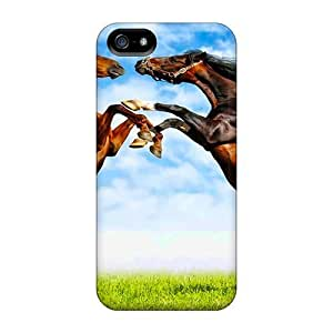 AngelaMs SPq6behJ Case Cover Iphone 5/5s Protective Case Fight Of Horses