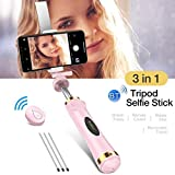 Sodoop Phone Mini Tripod Selfie Stick,Foldable Wireless Blueteeth Remote Control Super Long Extendable Handheld Selfie Stick with Wireless Remote and Tripod for iOS and for Android Smartphone