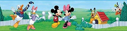 New Mickey Mouse Peel & Stick Wall Border Baby Nursery Ki...