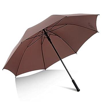 Paraguas paraguas paraguas grande reforzado con hombres fuertes y mujeres paraguas recta larga repelente al agua