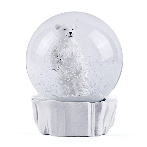 Beautiful Snow - WOBAOS Snow Globe crafts- Sculptured Resin Water Ball - Christmas Valentine's day birthday holiday new year's gift (Diameter 80mm, White)