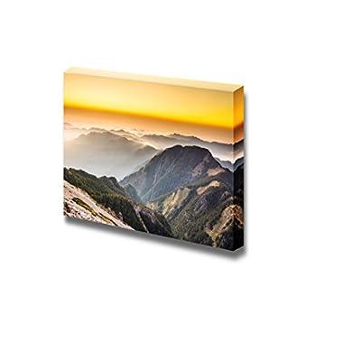 Beautiful Landscape Sunset Scenery in The Famous Yushan West Peak Taiwan Asia - Canvas Art Wall Art - 16