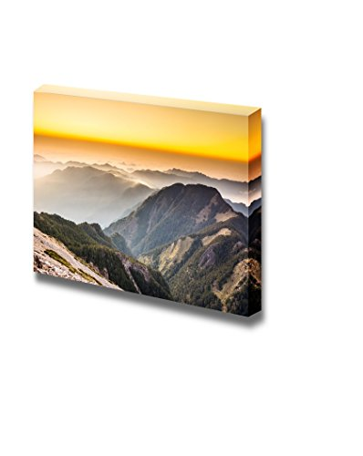 Beautiful Landscape Sunset Scenery in the Famous Yushan West Peak Taiwan Asia Wall Decor ation