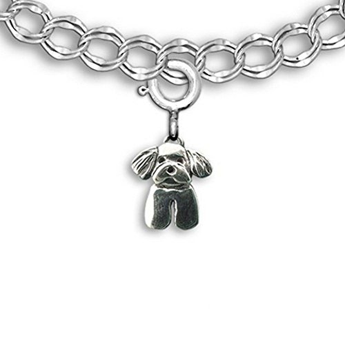 Sterling Silver Maltese Puppy Charm for Charm Bracelet by the Magic ()
