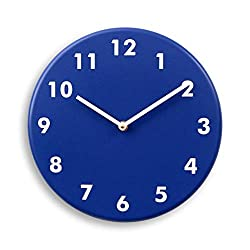 Silent wood wall clock (Navy)
