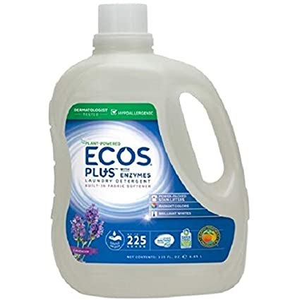 Ecos Plus Laundry Detergent With Enzymes (225 HE loads, 225 fl. oz.) pack of 2