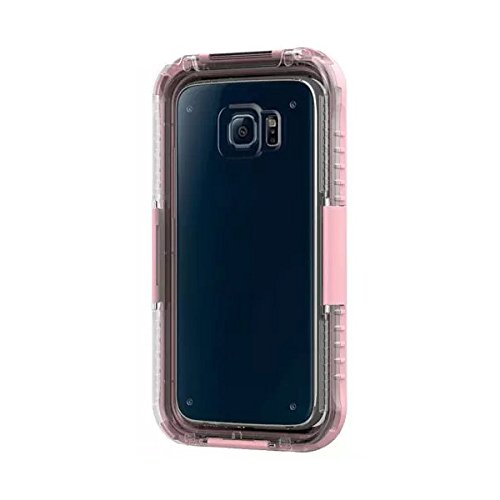 Galaxy S6 Edge case ,IP68 Waterproof s6 cover case -Durable Shockproof case for Samsung Galaxy S6 Edge (pink)