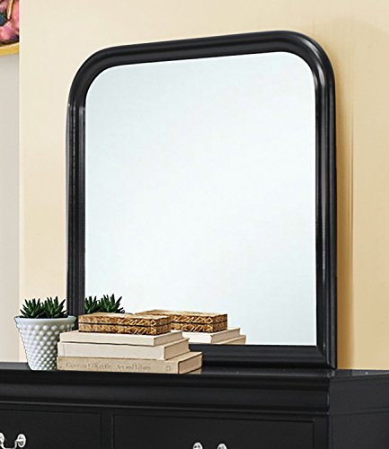 Coaster Home Furnishings Louis Philippe Vertical Mirror, Black
