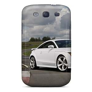 Fashion Protective White Audi Case Cover For Galaxy S3