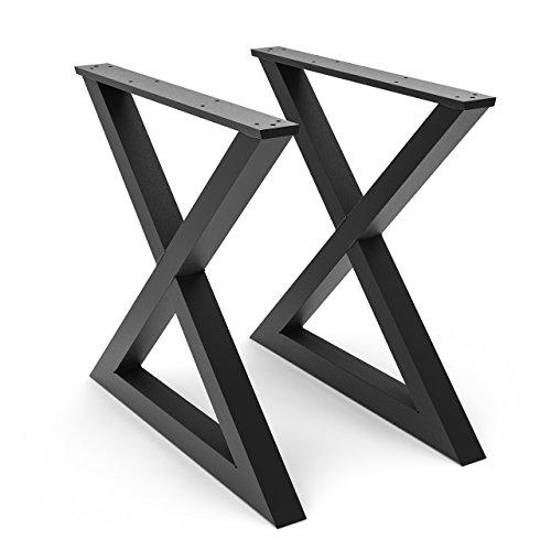 Steel Forged DIY Metal X Legs (Square Metal Table Legs)