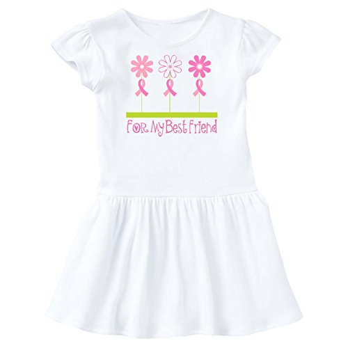 inktastic - Brreast Cancer Pink Ribbon Best Friend Toddler Dress 3T White ddc8