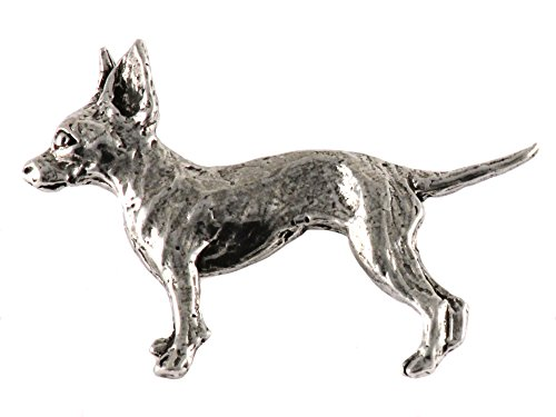 Chihuahua Dog Pewter Lapel Pin, Brooch, Jewelry, D348F