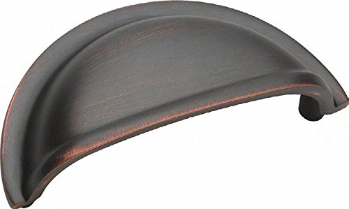 - Amerock BP4235ORB Advantage | Solid Brass Collection 3 Inch Center Cup Cabinet Pull, Oil-Rubbed Bronze
