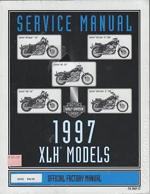 1997 Harley-Davidson XLH Models Official Factory Service Manual (P.N. 99484-97)