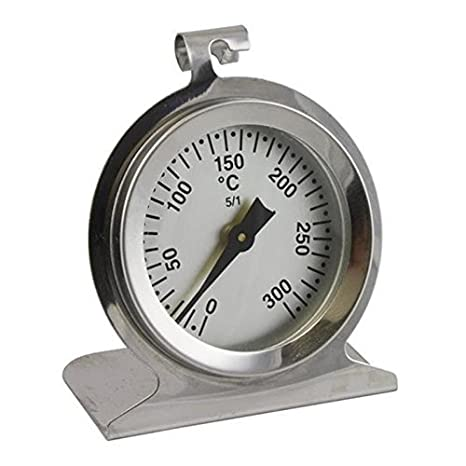 Lantelme 3245 Respaldo de acero inoxidable, mocosa, estufa, horno termómetro. horno termómetros bimetálicos. temperatura termómetro analógica hasta 300 ° c: ...